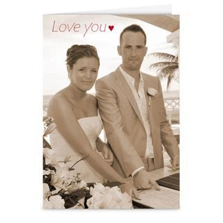 love you photo upload cards