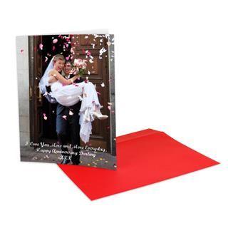 A4 photo greetings card wedding