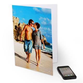 large printed photo card A4 summer kiss