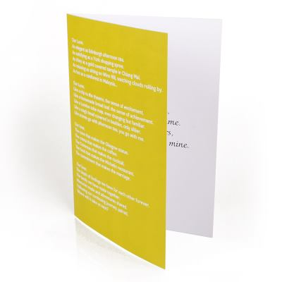 Carte personnalisable format A4
