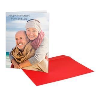 personalised photo upload card elderly couple