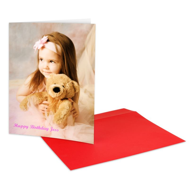 Personalised A4 Greeting Card Large Photo Card Big Cards By Bags – Birthday Cards Personalised