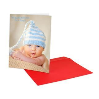 large photo card A4 baby