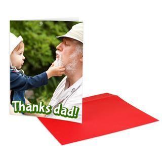 custom photo greeting card A4 grampa