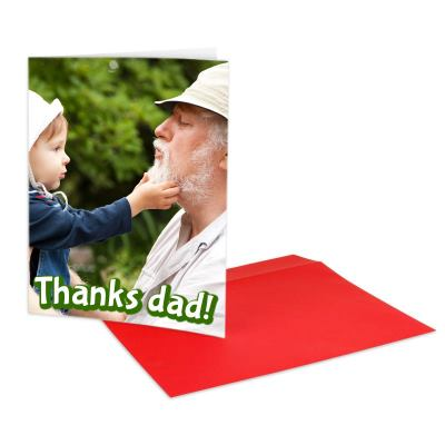 Father's Day photo card a4