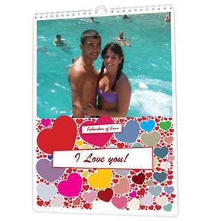 Calendario personalizado de amor