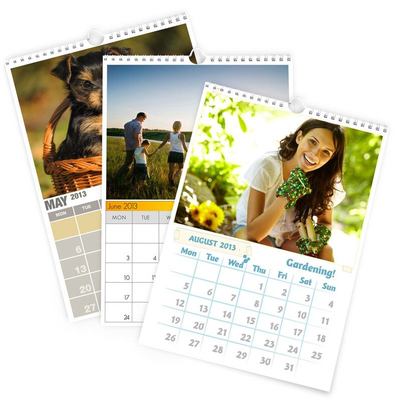 Printed Calendars A5 | Photo Wall Calendars 2017 by Bags Of Love