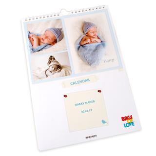 calendari personalizzabili foto bambino