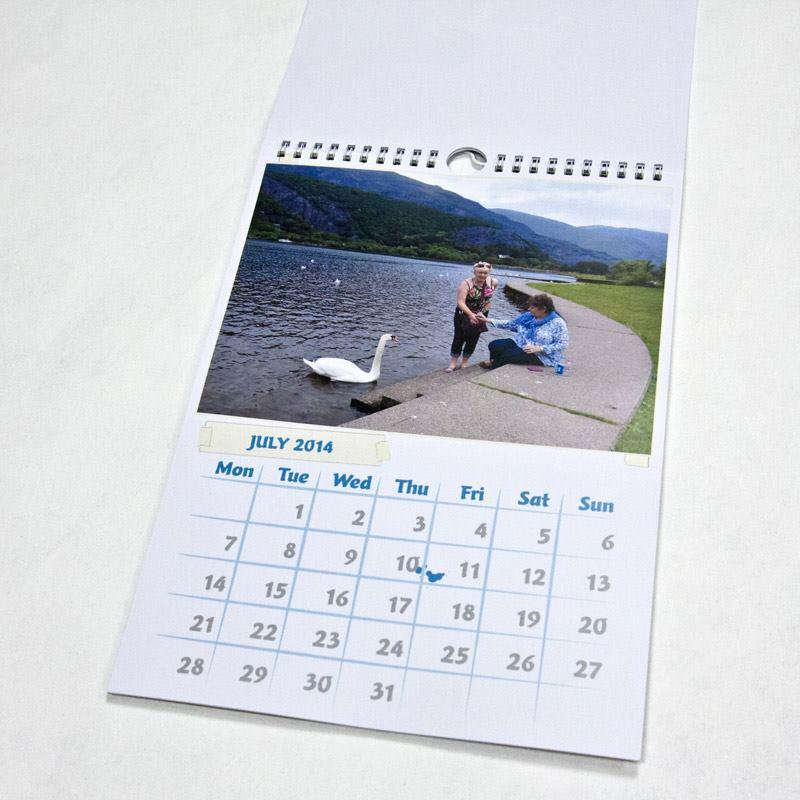 Calendario personalizzato 2017 con foto personali 12 mesi - Calendario da tavolo con foto proprie ...