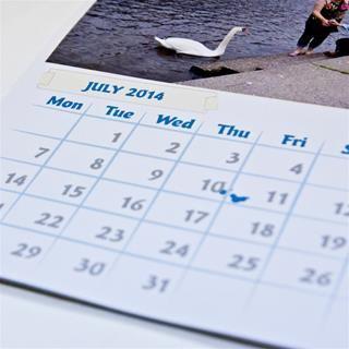 personalised a6 calendar 2018