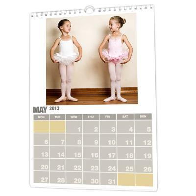 calendario con fotografías