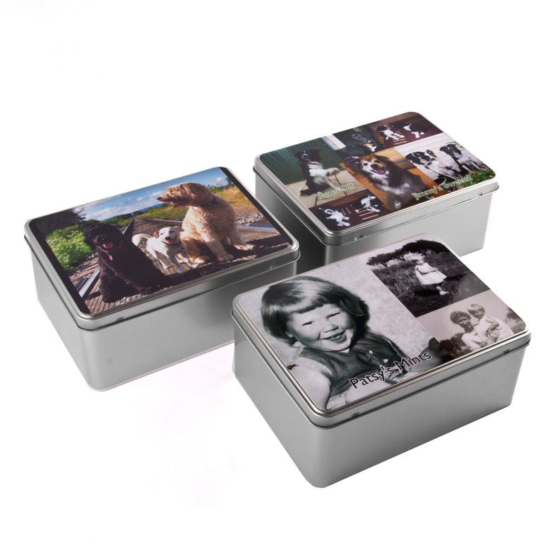 boite en m tal personnalisable sur id e cadeau photo. Black Bedroom Furniture Sets. Home Design Ideas