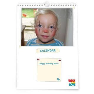 Calendarios personalizados con foto de niño