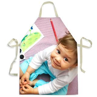 kids personalised apron photo