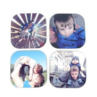 Print your own family photo coasters drinks