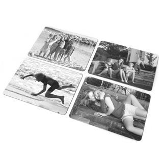 personalised black and white placemats
