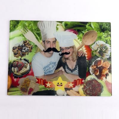 photo glass chopping board