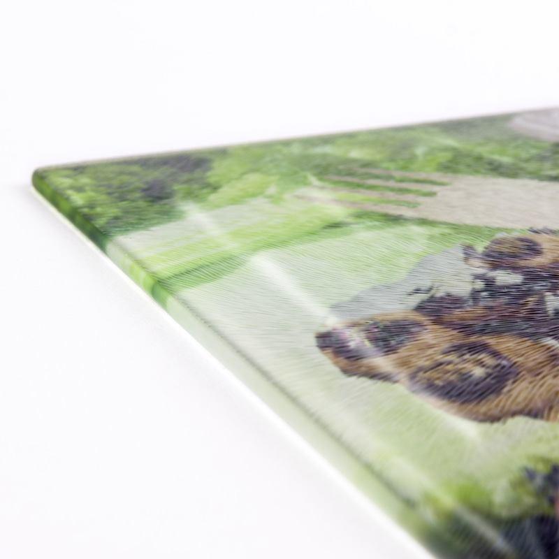 glasschneidebrett mit fotos fotocollage selbst gestalten. Black Bedroom Furniture Sets. Home Design Ideas