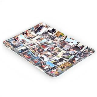 photo collage dinner tray personalised