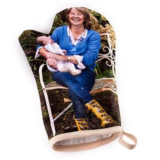 personalised photo oven glove