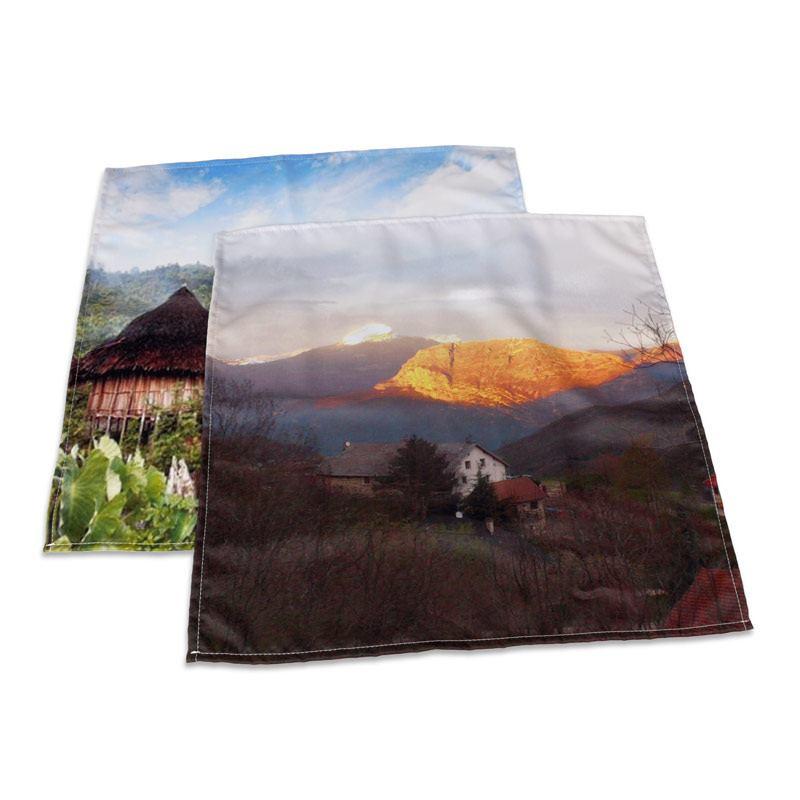 Serviettes de table personnalis es impression de qualit - Serviettes de table en tissu ...
