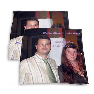 Custom printed photo napkin