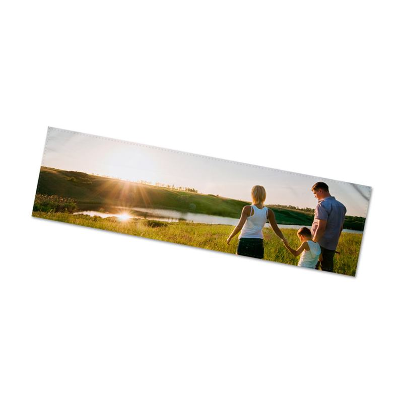 photo printed table runner