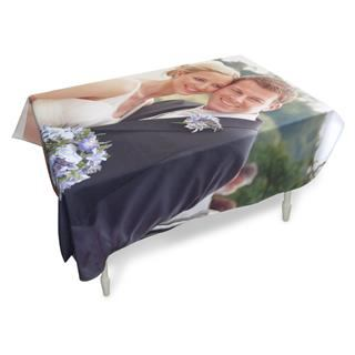 personalised photo printed table cloth