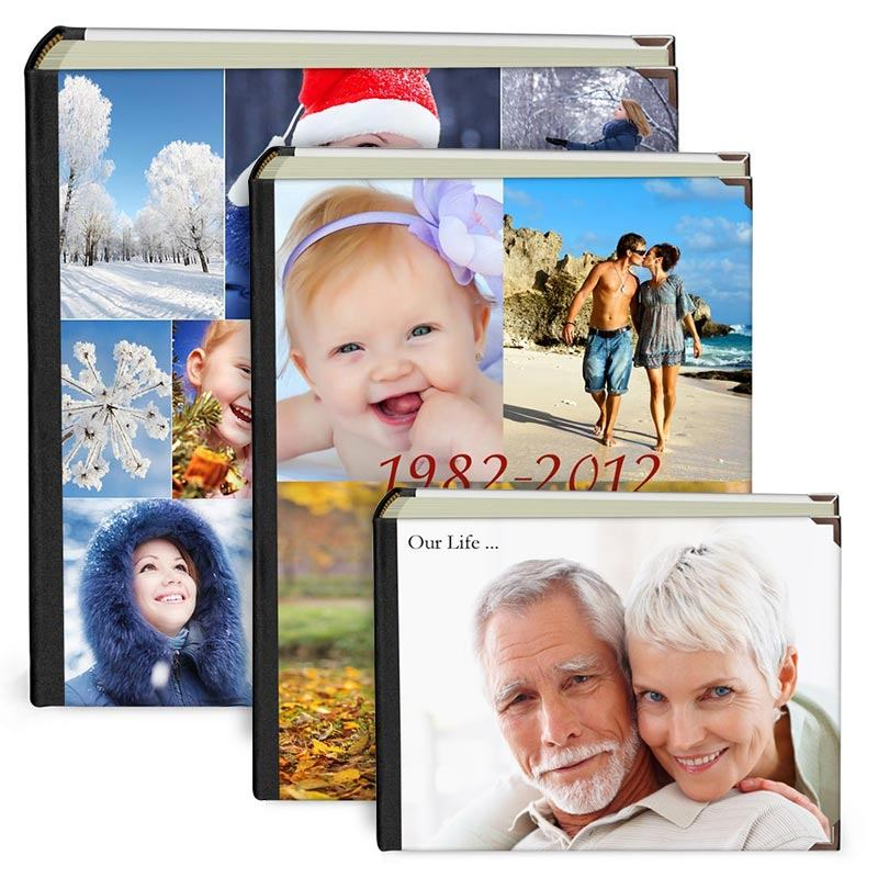 personalised photo album sizes