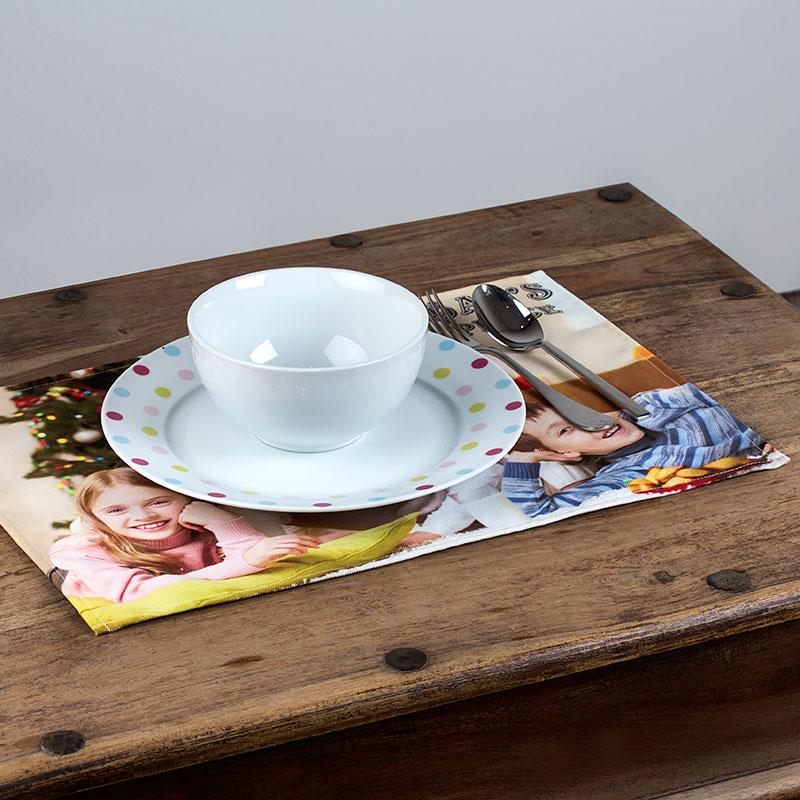Set De Table Personnalis En Tissu Set De Table Photo De Qualit