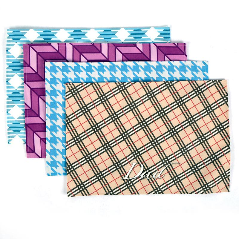 Photo placemats custom made custom fabric placemats for Table mats design your own