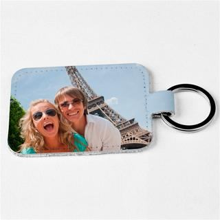 personalised photo leather keyrings