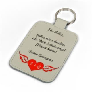 custom keyring with text