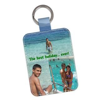 photo keyring personalised leather