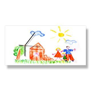 children's picture personalised wall clock