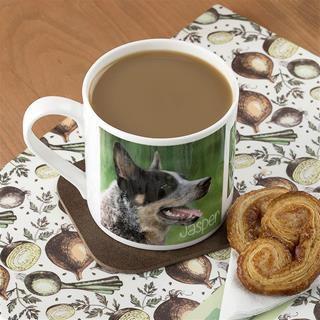 photo bone china mug with dog photo