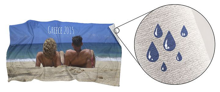 Water-absorbent personalised towel
