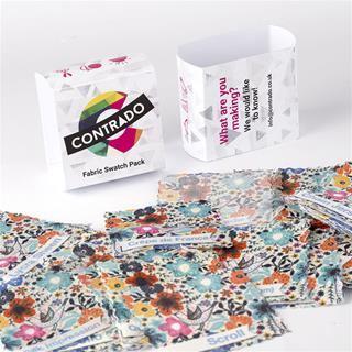 pack échantillons tissus imprimés texte
