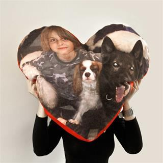 pouf cuscino cuore personalizzato