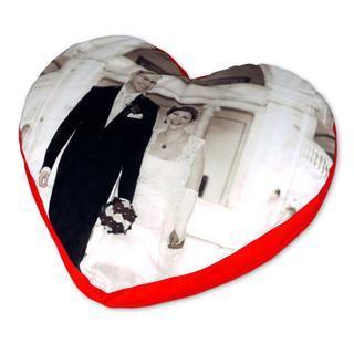 pouf cuore personalizzato foto matrimonio