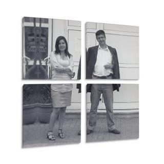 lienzo multipanel personalizado con foto en blanco y negro