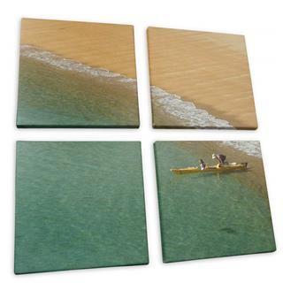 lienzo multipanel con foto playa
