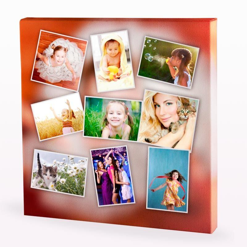 Lienzo collage crea tu lienzo con collage personalizado - Collage de fotos para pared ...