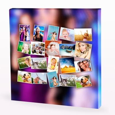 Stampa digitale su tela con le tue foto stampe su canvas su misura - Fotoleinwand erstellen collage ...