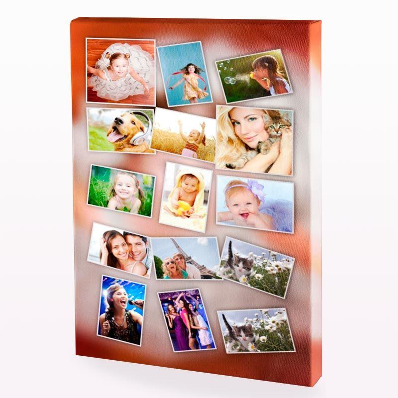 your photo on a canvas montage