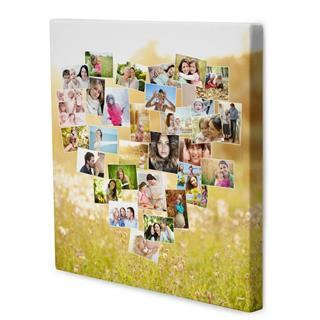 tableau photo montage en coeur