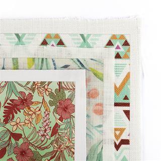 silk printed fabric samples