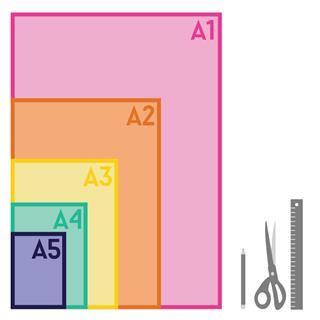 tessuti misure a5, a4 a3