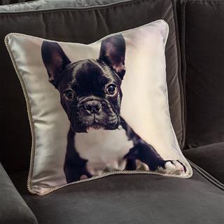 cuscini in seta personalizzati foto cane