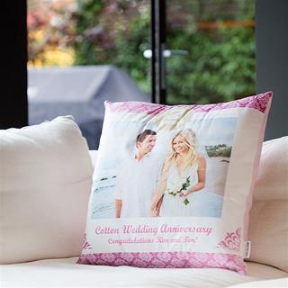 bedrucktes Kissen mit Hochzeitsfoto
